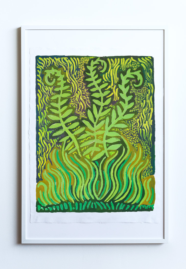 Fern Nature Painting Vancouver Mat Holmstrom