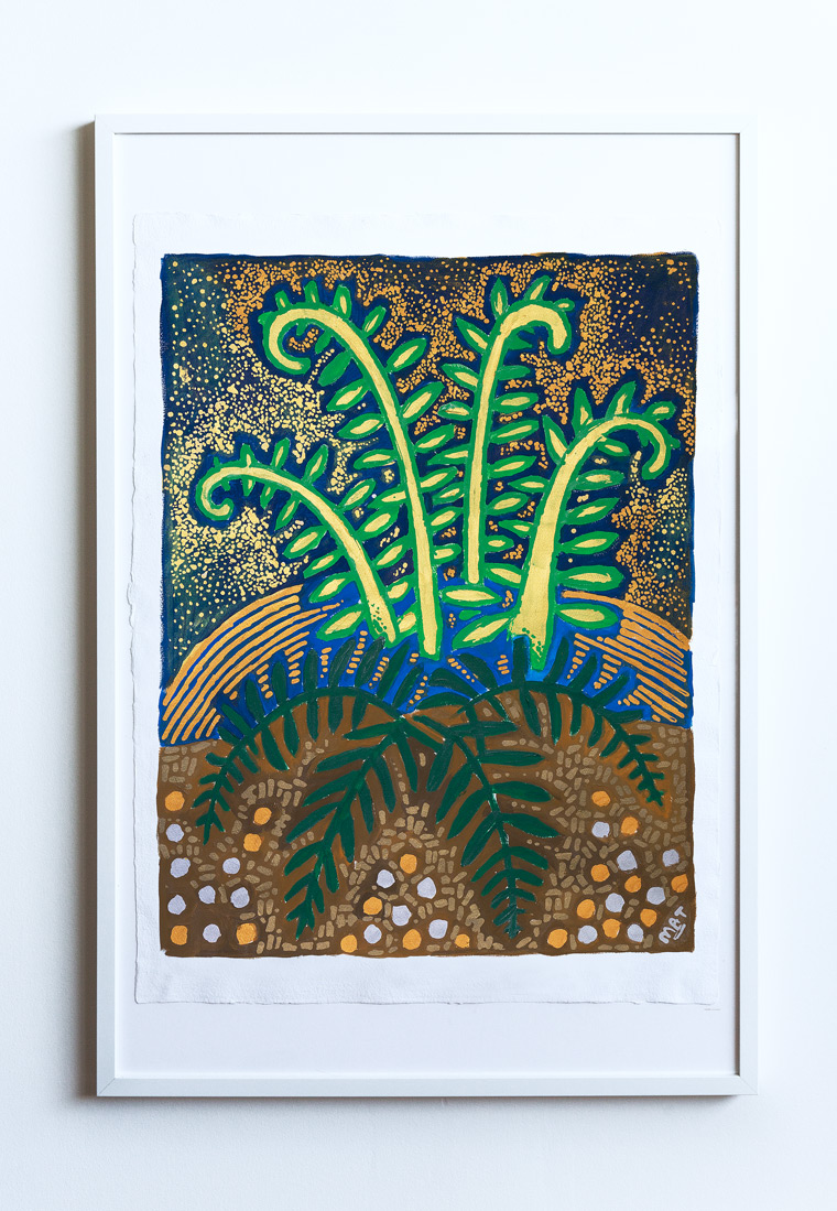 Fern Garden Painting Vancouver Mat Holmstrom