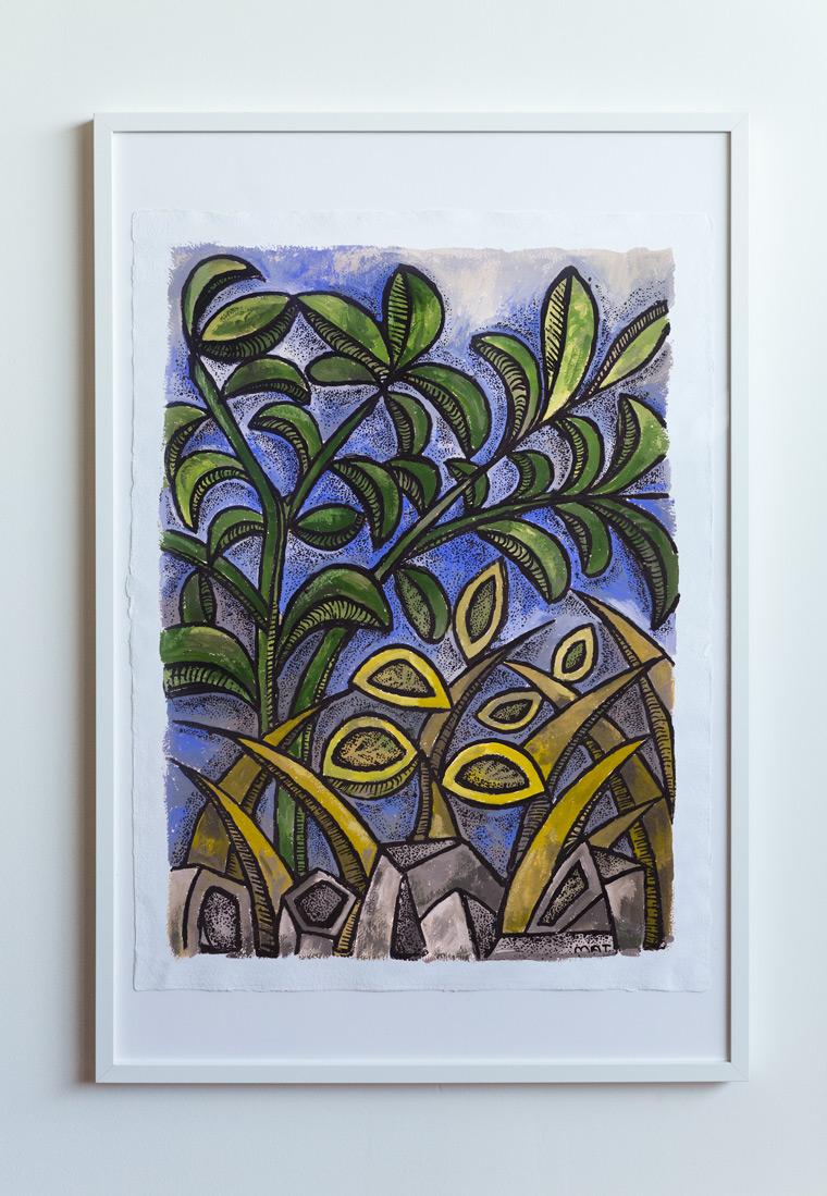Rock Garden Painting Vancouver Mat Holmstrom