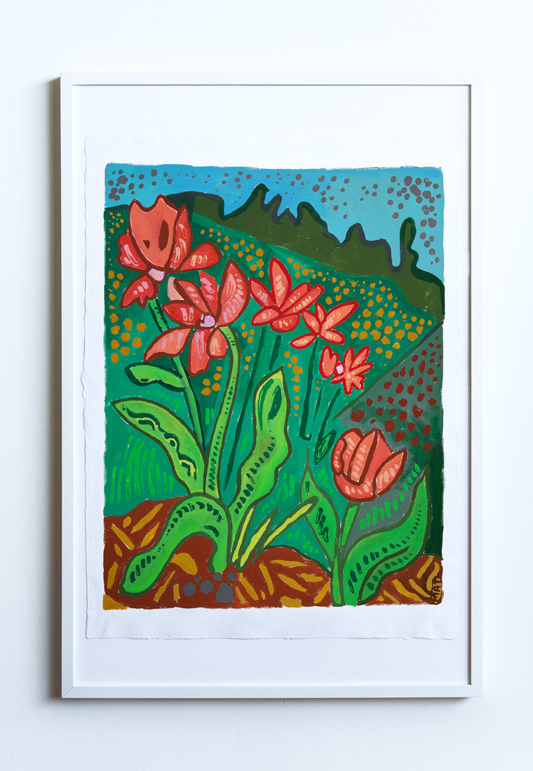 Tulip Field Painting Vancouver Mat Holmstrom