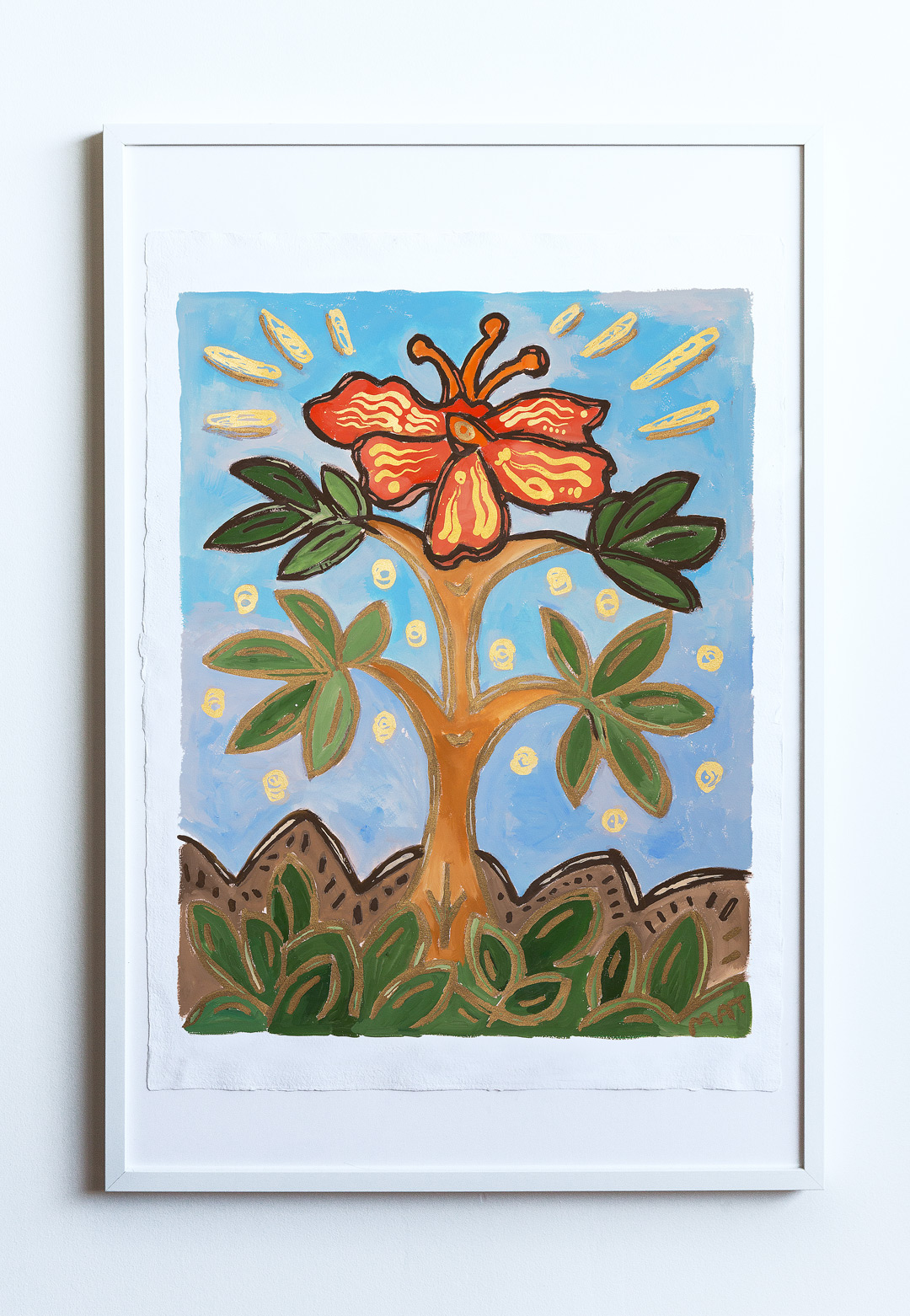 Flower Painting Vancouver Mat Holmstrom